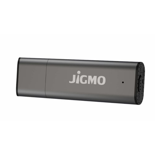 Voice Activated USB Sound Recorder - by JiGMO [Grey], 8GB / 48 Hrs Storage Capacity, 384 kbps, Mini Audio Recorder / Recording Device With Clear...