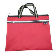 Oxford Jaquard Executive Document Bag Laptop Bag Briefcase (30.5 x 36cm) RED