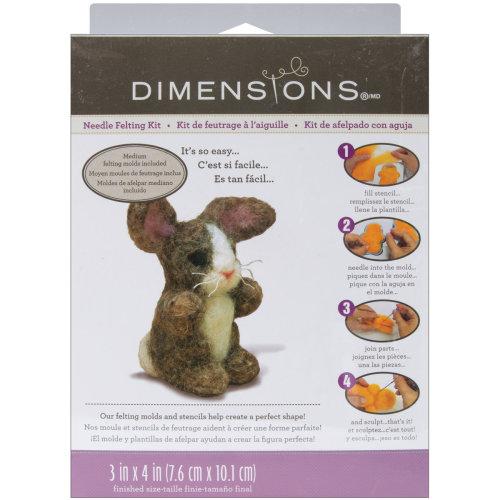 Dimensions Feltworks Needle Felting Kit-Bunny