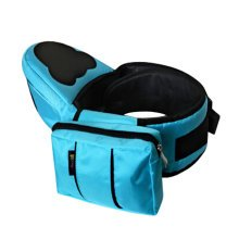 Multifunctional Baby Carrier Kid Hip Seat Carrier/Backpack With Waist Bag Blue