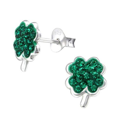 235ddecbe Sterling Silver St. Patrick's Day Shamrock Stud Earrings on OnBuy