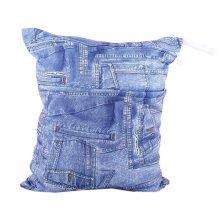 "Jean Pattern Wet Bags Waterproof Diaper Bag Multi-function Nappy Bag-14""*11"""