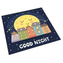 Square Cute Cartoon Children's Rugs, Good Night Moon And House