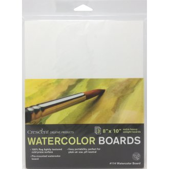 "Crescent Watercolor Board 3/Pkg-8""X10"" White"