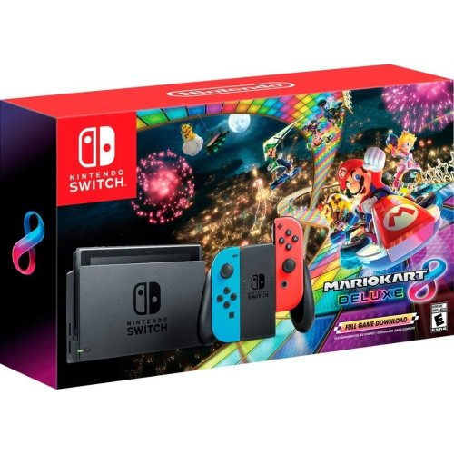 Nintendo Switch with Mario Kart 8 Game Bundle + Strategy Guide
