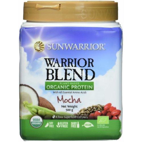 Sunwarrior Warrior Blend Organic Raw Vegan Protein Powder, Mocha, 1kg