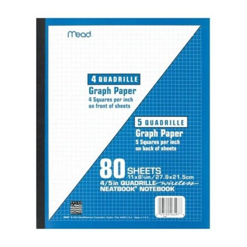 Mead 06497 11 x 8.5 in. Wireless Neatbook Notebook - pack of 24