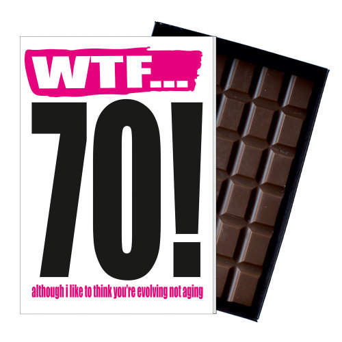 Funny 70th Birthday Gift Rude Naughty Present For Him Or Her 85g Chocolate Card