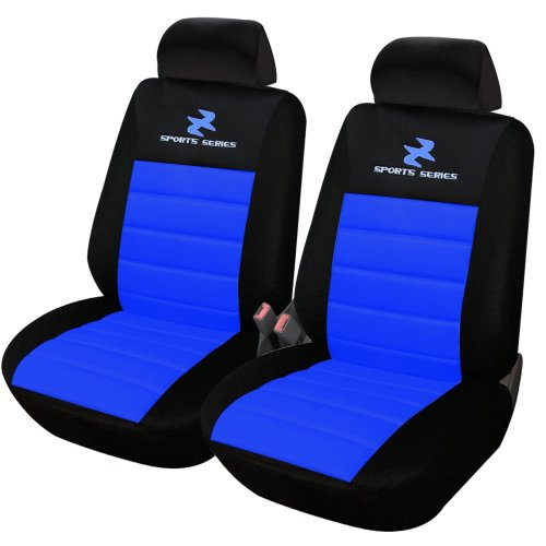 Pleasing Woltu Car Van Seat Covers Front Pair Blue Black Universial For Cars Vans And Mpvs Pdpeps Interior Chair Design Pdpepsorg