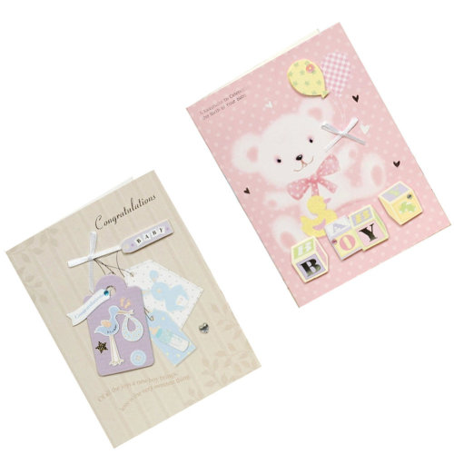 Lovely Baby Thank You Cards Baby Shower Set of 10 3D Cards,Baby Boy