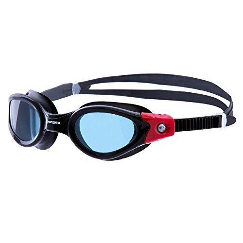 Vorgee Unisex Vortech-Tinted Lens Swimming Goggle, Black/Black/Red, One Size