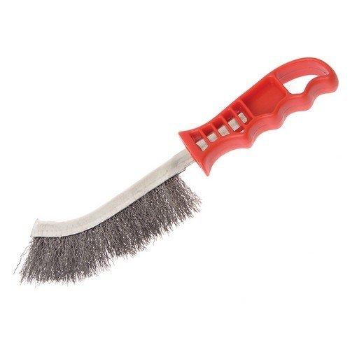 Faithfull FAIWBHANDS Wire Scratch Brush Steel Red Handle