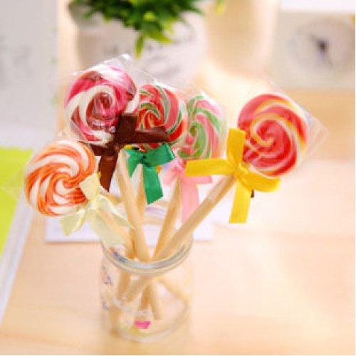 Swirly Lollipop Candy Ballpoint Pens