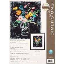 Dimensions Needlecrafts 71-01546 Dimensions Believe In Your Dreams, Embroidery -  embroidery believe your dreams dimensions kit d7101546 stamped