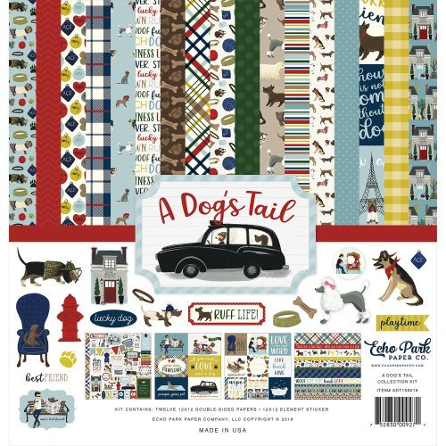 "Echo Park Collection Kit 12""X12""-A Dog's Tail"