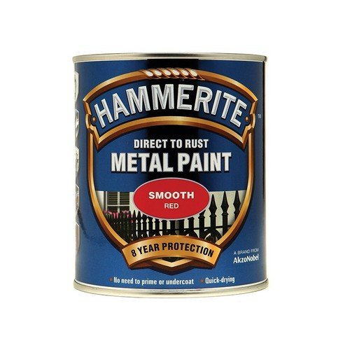 Hammerite SFR750 Direct to Rust Smooth Finish Metal Paint Red 750ml