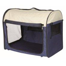 Trixie Mobile Dog Kennel, Medium/large, Dark/light Blue - Kennel Mediumlarge -  trixie blue mobile dog kennel mediumlarge darklight transporthtte