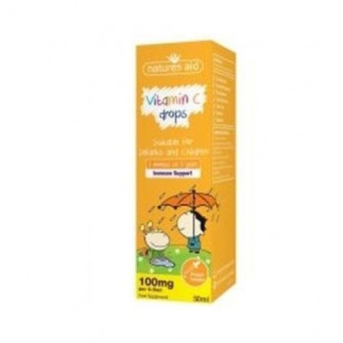 Natures Aid - Vitamin C 100mg Drops For Infants & Children (3 Months - 5 y
