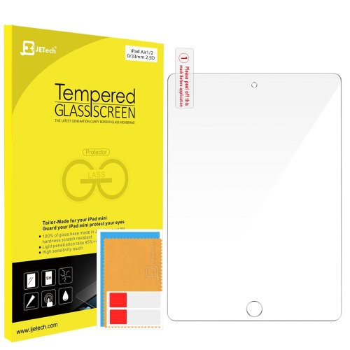 JETech Tempered Glass Screen Protector Film for Apple iPad Air 1/2/Pro 9.7 inch
