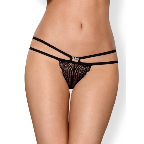 Obsessive 828 Decorative Lace Multistrap Thong