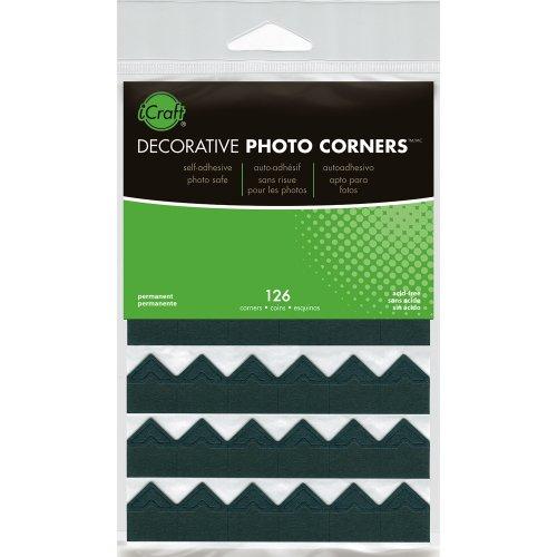 Decorative Photo Corners 126/Pkg-Black