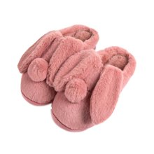 Women Plush Slippers Winter Cartoon Indoor Slippers Household Slippers RED
