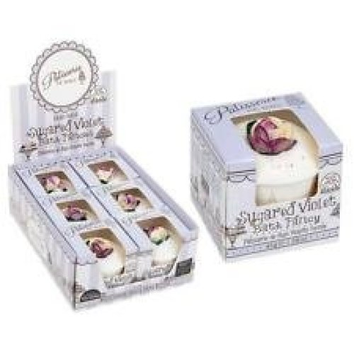 Patisserie De Bain Hand Made Sugared Violet Bath Fancy Shea & Cocoa Butter Boxed