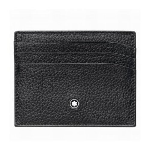 MONTBLANC CREDIT CARD HOLDER 6 COMPARTMENTS MEISTERSTUCK SOFT GRAIN BLACK 113309