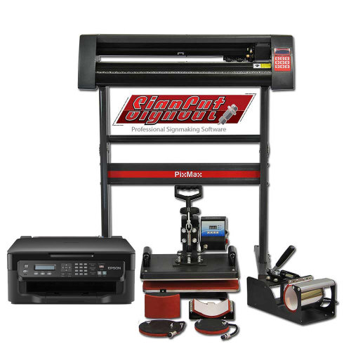 PixMax Da Vinci Bundle 5 in 1 Heat Press, Vinyl Cutter, Printer