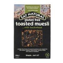Eat Natural Gluten Free Toasted Muesli ....with Buckwheat 500g
