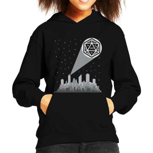 Dungeons And Dragons Bat Dice Kid's Hooded Sweatshirt