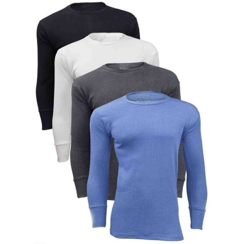 Mens Thermal Full Sleeve Warm Vest Inner Top Underwear Shirt
