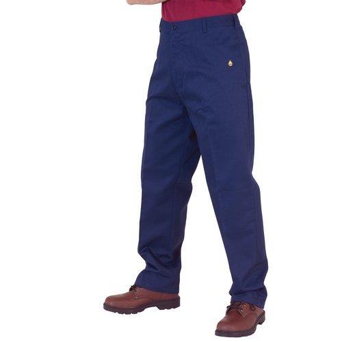 """Click CFRTN30 Flame Retardant Trousers Navy Blue 30"""" Waist"""