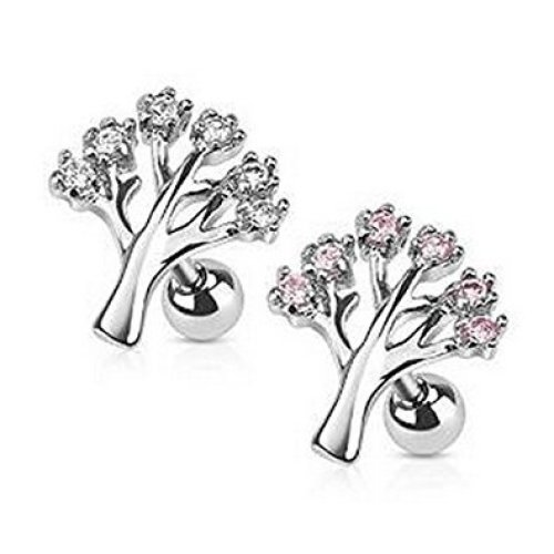 Crystal Whimsical Tree of Life Tragus or Cartilage