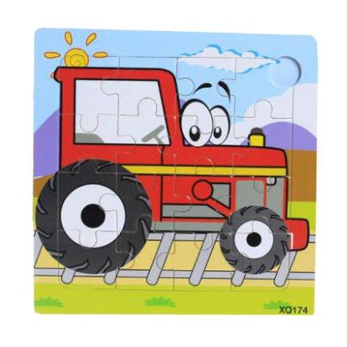 2 Pcs Wooden Puzzles Children Puzzle Puzzles, Tractor