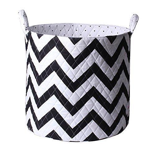 Minene Storage Basket (Large, Black and White Chevron)