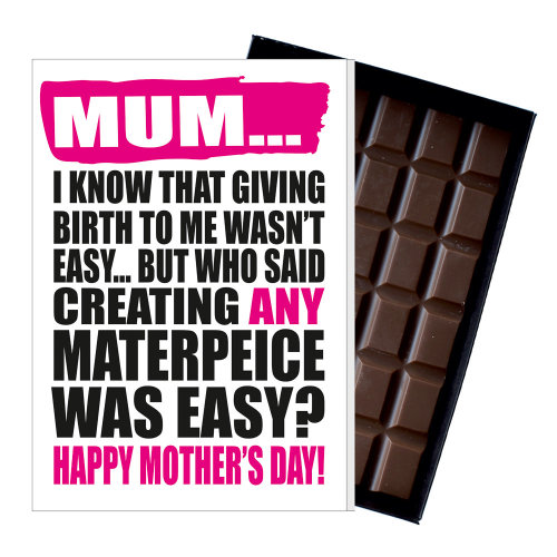 Funny Mother's Day Gift Naughty Chocolate Present Rude Card For Mum MIYF123