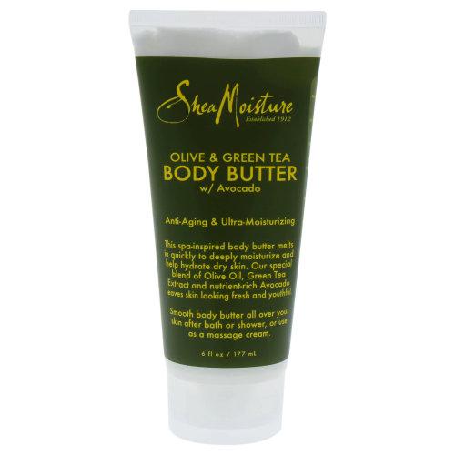 Olive & Green Tea Body Butter Anti-Aging & Ultra-Moisturzing by Shea Moisture for Unisex - 6 oz Cream