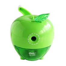 Cute Fruit Manual Pencil Sharpener for Office and Classroom ( Green )