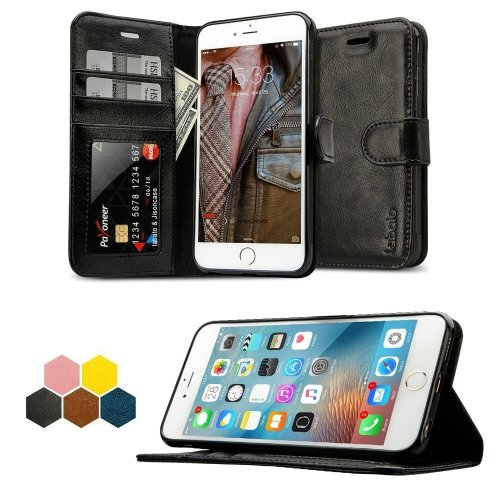 reputable site f4f25 ddc5b iPhone 6s Plus Case, Labato 6s Plus Genuine Leather Stand Case Folio Smart  Cover Flip Wallet Protective Case for Apple iPhone 6 Plus / 6s Plus...