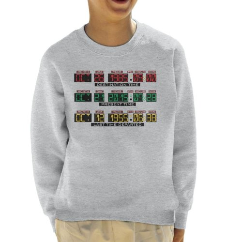 Back To The Future Delorean Time Machine Kid's Sweatshirt