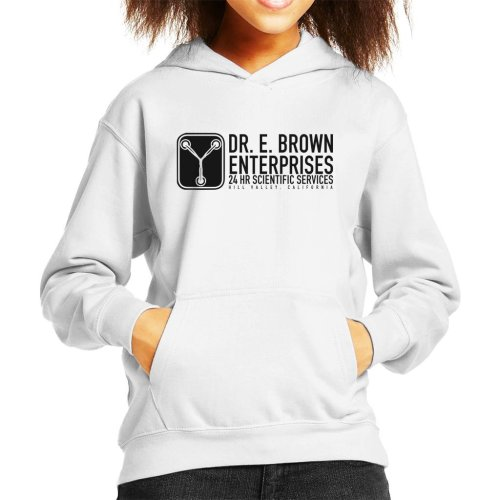 Dr E Brown Enterprises Back To The Future Kid's Hooded Sweatshirt