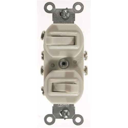 Leviton Ivory Commercial Grade 3-Way AC Combination Switch Toggle  031-5243-I