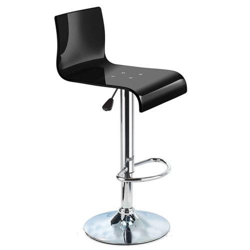 Prime Snazzy Adjustable Acrylic Kitchen Bar Stool Black 57 78Cm 102Cm 38Cm 41Cm Acrylic Perspex Chrome Black Acrylic Perspex Customarchery Wood Chair Design Ideas Customarcherynet