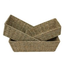 Set of 3 Tapered Seagrass Trays