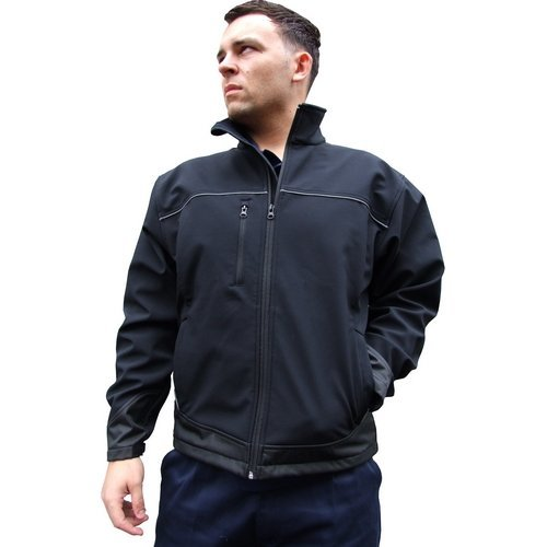 Click SSJBL4XL Soft Shell Jacket Water Resistant Breathable Fabric Black 4XL