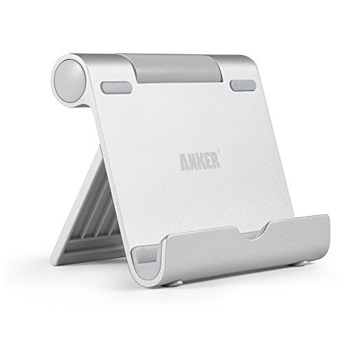 """Anker Multi-Angle Portable Stand Tablets 7-10"""" E-readers & Smartphones (Silver)"""