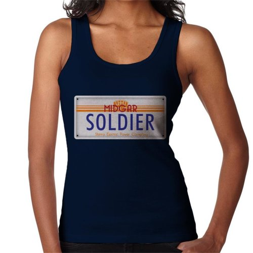 Final Fantasy Midgar Soldier License Plate Women's Vest
