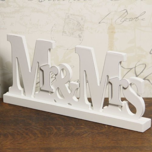 Mr & Mrs Free Standing Plaque