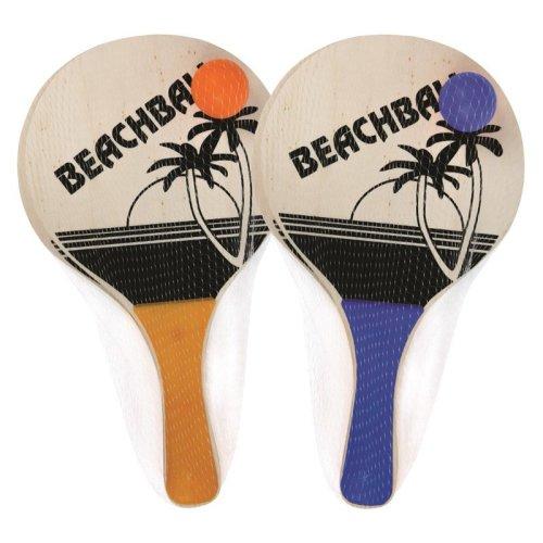 Beach Paddle Ball Tennis Set 2 Bats With 1 Ball Summer Beach Rackets Ball
